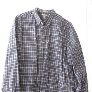 Eddie Bauer XLT Blue Check Button Down Shirt